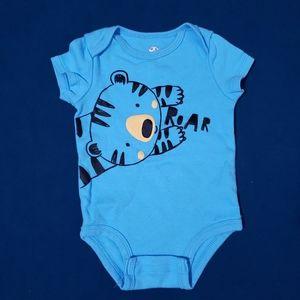6M Tiger Onesie | Blue Roar Rococo